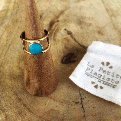 la-petite-plagiste-collection-mexique-bague-zipolite-plaqué-or-turquoise